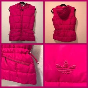 Adidas Originals Puffer Vest With a Hood.